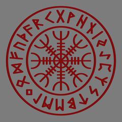 Aegishjalmur Futhark Background