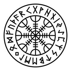 Aegishjalmur Futhark Runes
