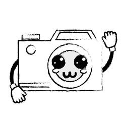 figure kawaii cute happy digital camera
