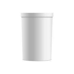 Blank of plastic tub for dessert, yogurt, Ice Cream. Vector
