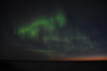 Aurora Borealis, Nordlicht, Polarlicht, Erdmagnetosphäre, grün, Schimmer, Atmosphäre, Norwegen, Uttakleiv
