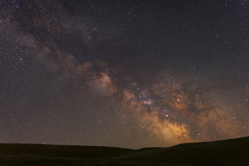 Milky Way over the hil