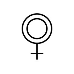 line female symbol sign decoration design