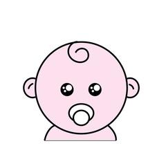 baby head with acifier design