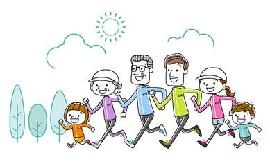 家族:運動、スポーツ、ランニング