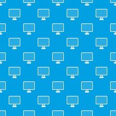 Computer monitor pattern seamless blue