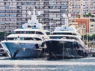 Luxury yachts in Monte Carlo port, Monaco