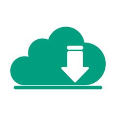 cloud storage download arrow  icon image vector illustration design