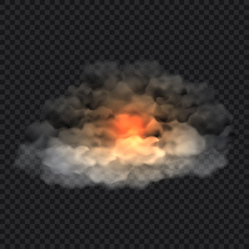 Smoke cloud concept background, realistic style