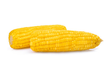 two corn cops isolated on white background