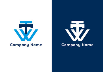 Letter TTW logo template. Premium monogram business sign. Universal vector icon.