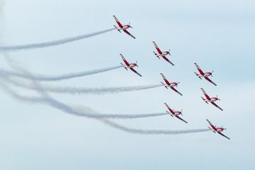 Air Show - Airplanes acrobatic show ,  Malta