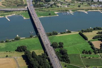 Rheinquerung der Autobahn A1 bei Leverkusen