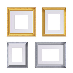 Frame vector set of frames for paintings