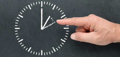 Winter time / Standard time on a blackboard