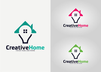 Creative Home Logo Template Design Vector, Emblem, Design Concept, Creative Symbol, Icon