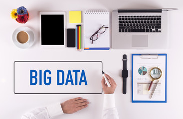 Businessman Writing the Words BIG DATA Concept