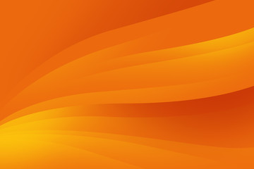 Abstract orange background with smooth lines, futuristic design.