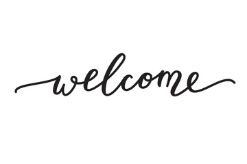 welcome vector lettering Wall mural