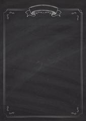 Vector retro menu blackboard background