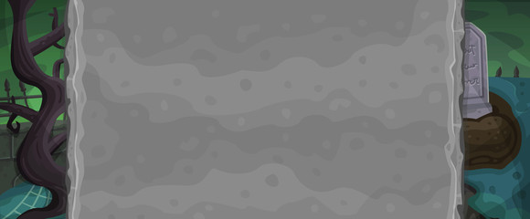 Zombie background for game. Vector illustration