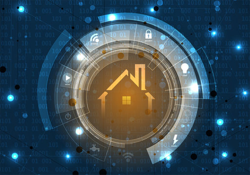 smart home technology futuristic concept for business background