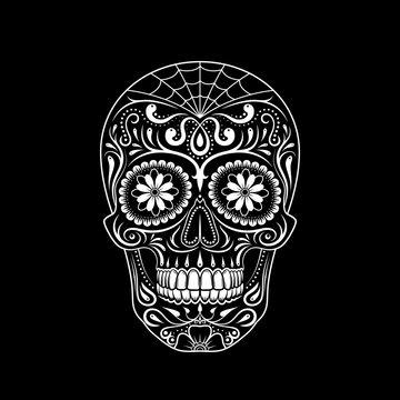 Graphic illustration of sugar skull