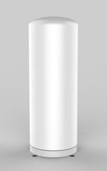 Illuminated inflatable advertising white blank tube small pillar column advert Air Sky Wind dancer for mock up and template design. 3d render illustration.