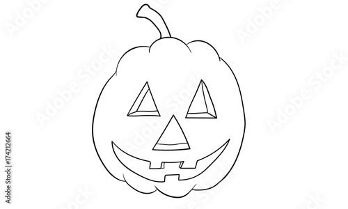 Kürbis Halloween Ausmalbild Stockfotos Und Lizenzfreie Vektoren Auf