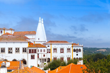 The Palace of Sintra in summer. Town Palace