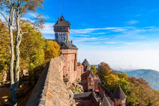 Haut-koenigsbourg - old castle in beautiful Alsace region of France near the city Strasbourg