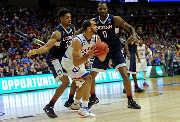 NCAA Basketball: NCAA Tournament-Second Round-Kansas vs Connecticut