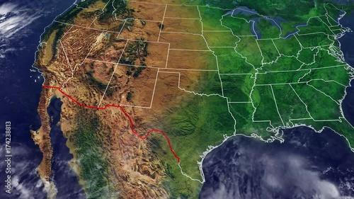 Cartina Stati Uniti E Confine Con Messico Cartina Fisica Degli Usa
