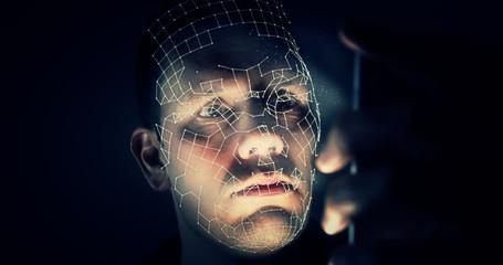 Unlocking latest smartphone with biometric facial identification scan