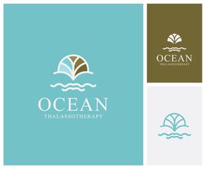 Thalasso, termes, marin, magasin, boutique, enseigne, nom, identité, marque, logo, eau, océan