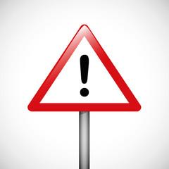 dreieckiges warnschild mit ausrufezeichen
