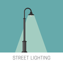 Street lighting banner