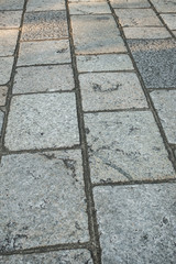 stone paving way of a shrine in Kyoto, Japan