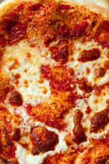 Pizza . A seamless food texture. For fabric and material prints, image backgrounds, posters and menus, invitations, collage, gift wrap, wallpaper, within type designs etc.