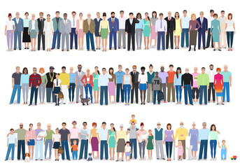 Group of different people, vector illustration