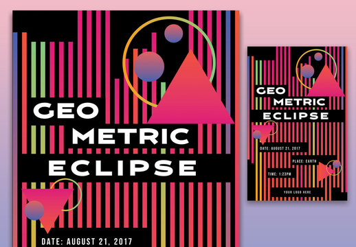 Geometric Eclipse Poster