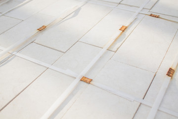 A stack of tiles background