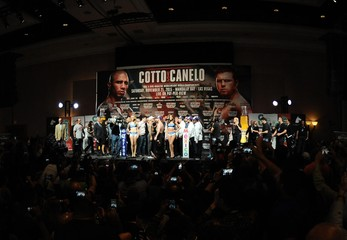 Boxing: Canelo vs Cotto-Weigh Ins