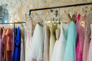 women's dresses on hangers