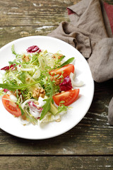 Avocado salad with tomatoes