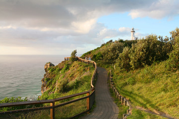 The Byron Bay lighthouse sits on Australia's most eastern mainland point. New South Wales, Australia.