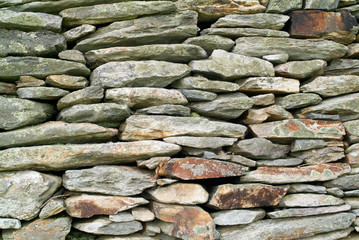 Eary Stacked Stone Wall