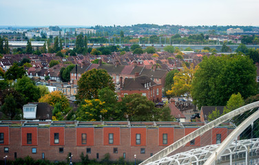 Suburban areas view in North London