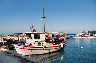 Greece. The island of Zakynthos, The wharf for schooners