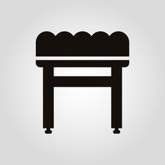 Chair for foot or ottoman isolated flat vector icon